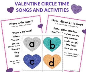 valentine songs for circle time
