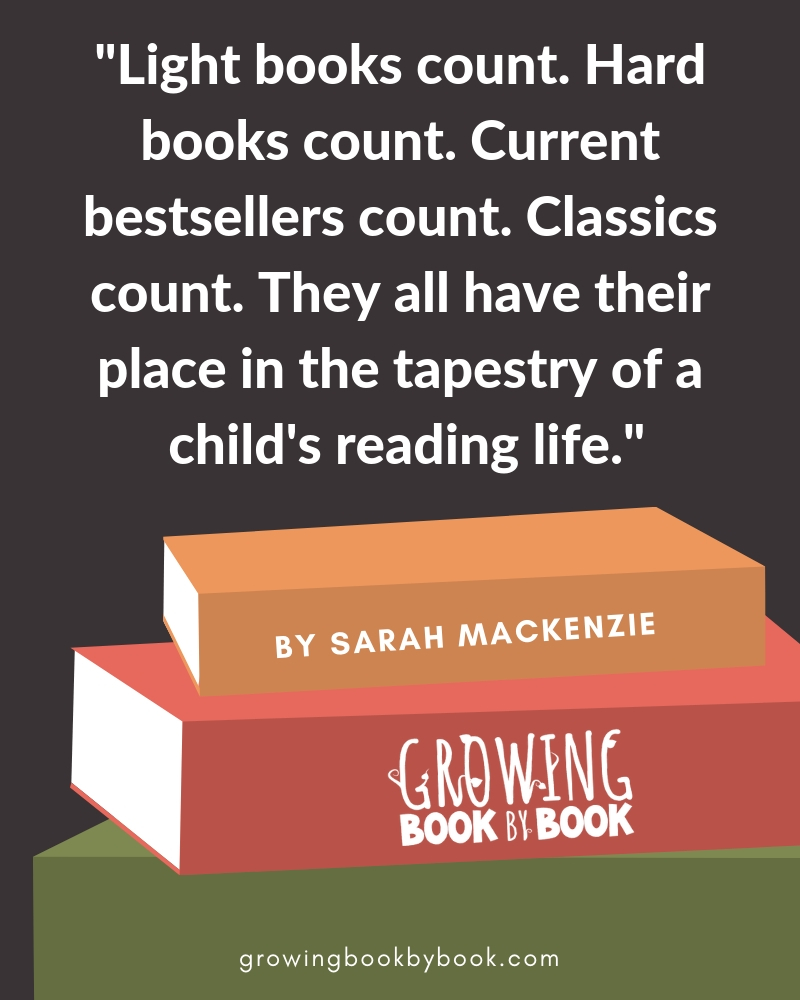 all books count quote by Sarah Mackenzie