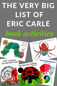Eric Carle activities for many of his books