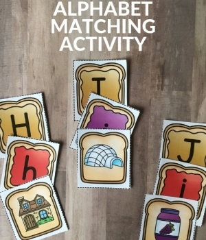 MATCHING ACTIVITY TO WORK ON LETTER RECOGNITION