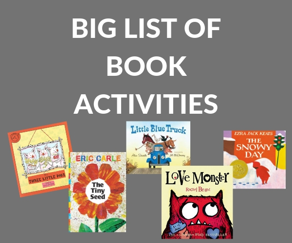 A big collection of children's books and book activities to go with each title.