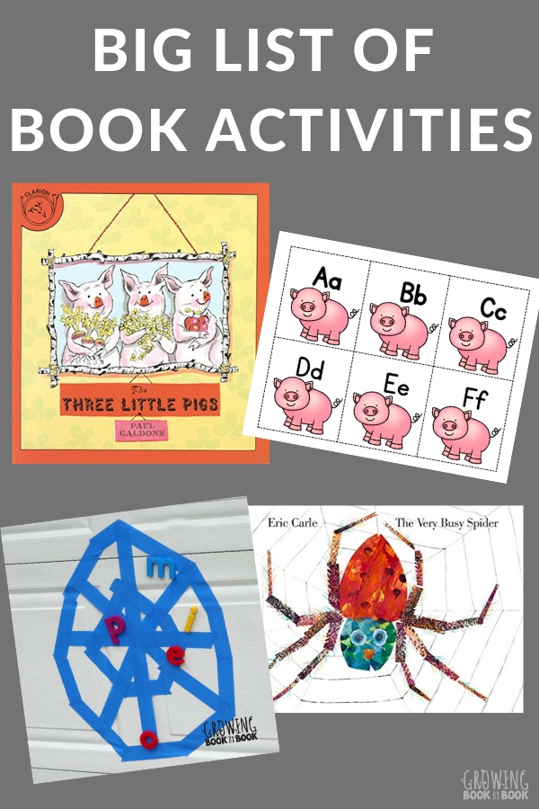 Book activities to go with favorite children's books.