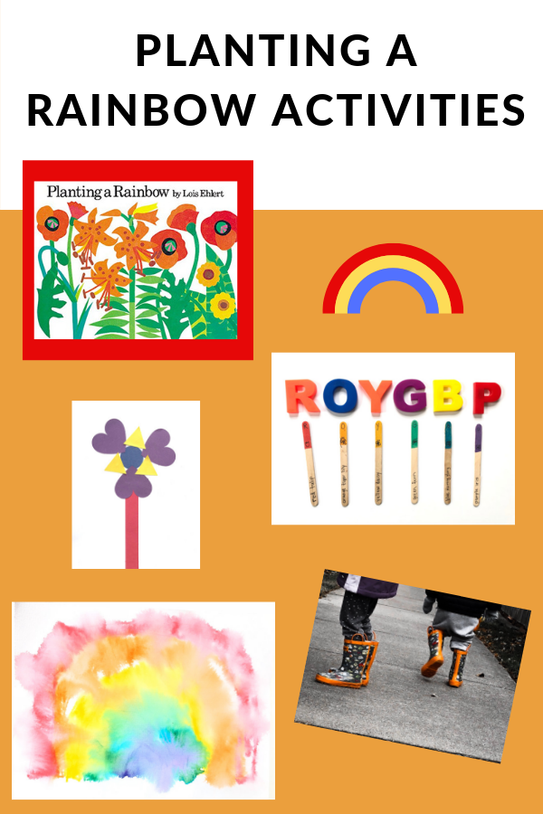 Planting a Rainbow Activities