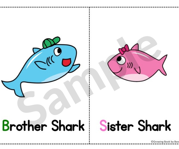 baby shark activity printable