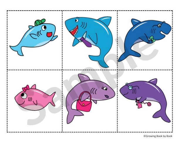 picture about Shark Printable titled Boy or girl Shark Printable Actions for Babies and Preschoolers