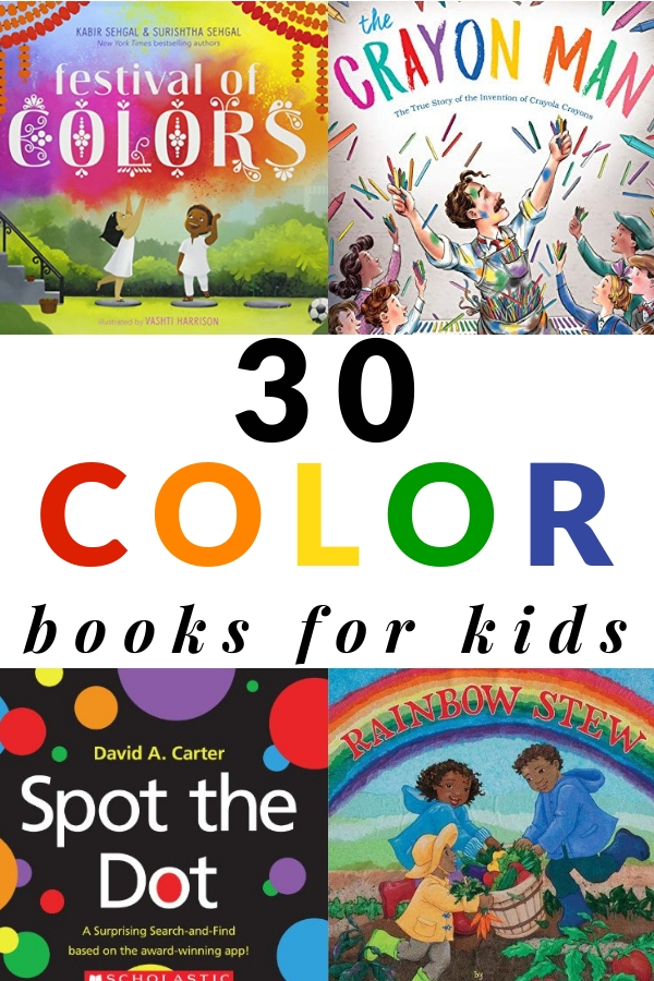 30 books about colors for kids