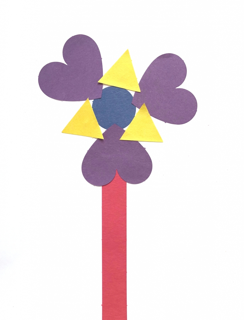 flower collage activity to compliment Planting a Rainbow