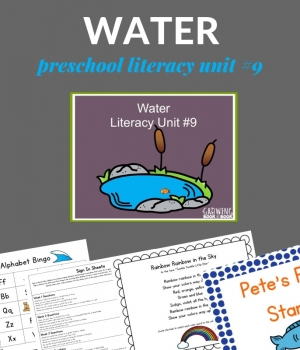 Water lesson plans for preschoolers including ponds/lakes, rainbows/mud, ocean, and water polay.