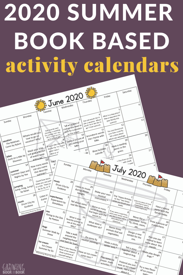 summer reading calendars and logs