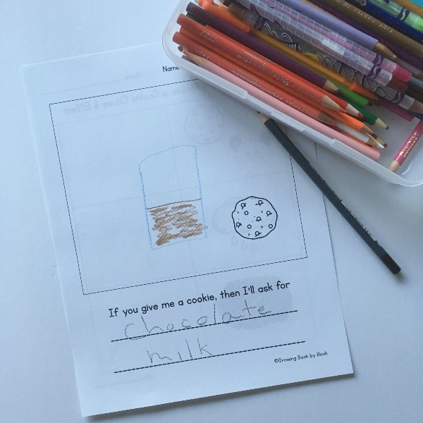 reader response writing sheet for If You Give a Mouse a Cookie