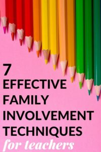 ideas on how to involve parents at school