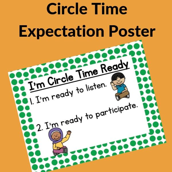 circle time poster of rules