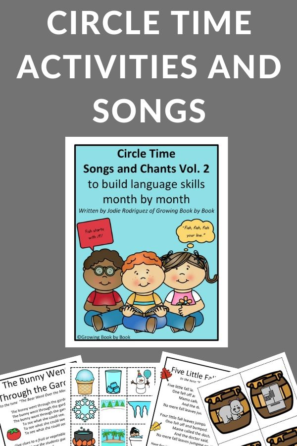Printable resources for singing and activities to build literacy skills