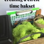 an inside look of a circle time basket