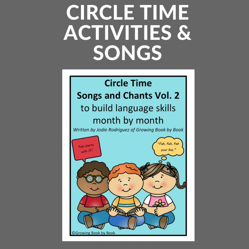 cover of the circle time songs and chants vol. 2 month by month