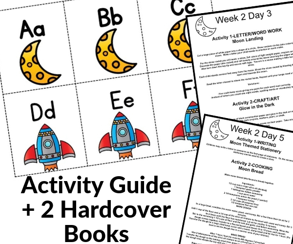 moon activity and book pack