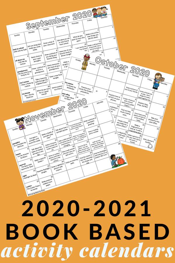homework calendars for 20-21