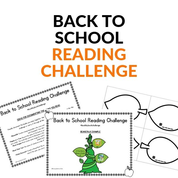 reading challenge for families and schools for back to school time