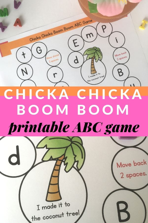 picture regarding Chicka Chicka Boom Boom Printable identify Chicka Chicka Increase Growth Sport