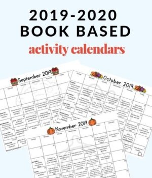homework calendars and book lists to send home with students