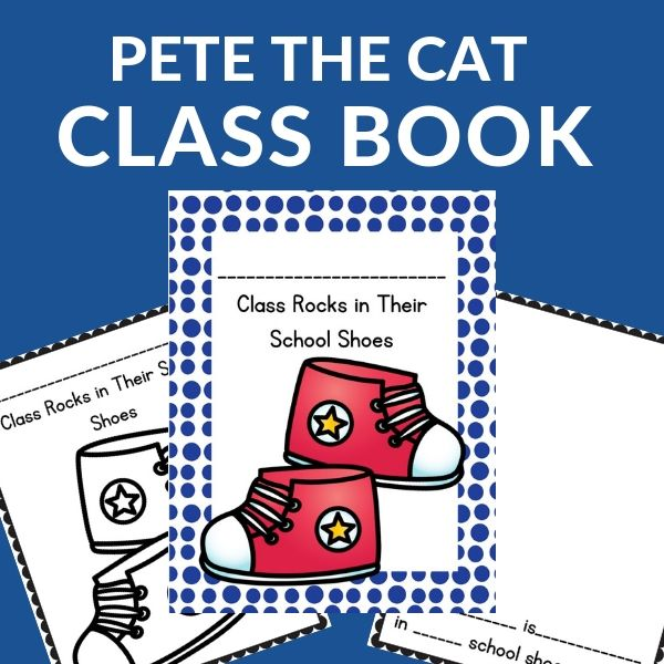 collaborative class book after reading Pete the Cat