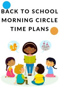 morning circle time lesson plans