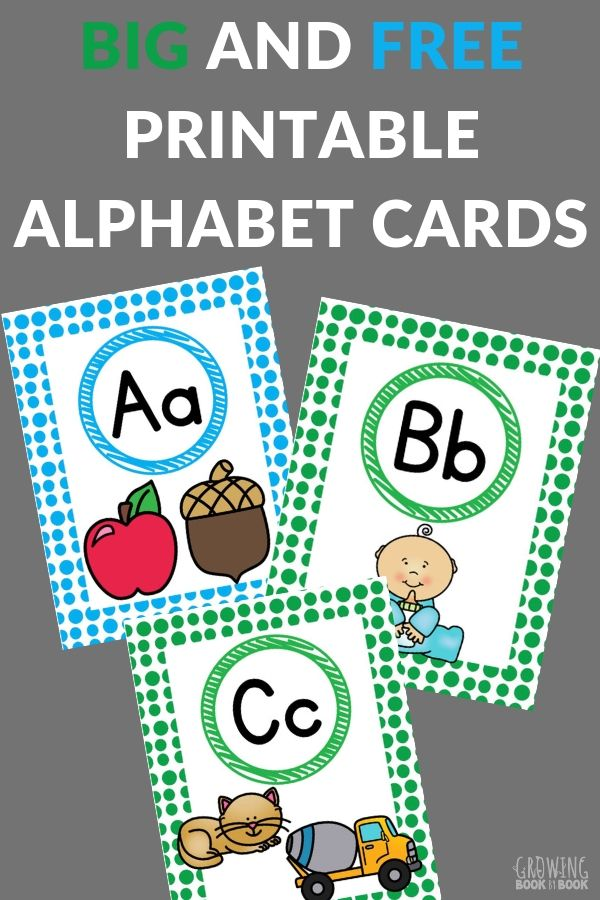 large ABC cards to print and hang