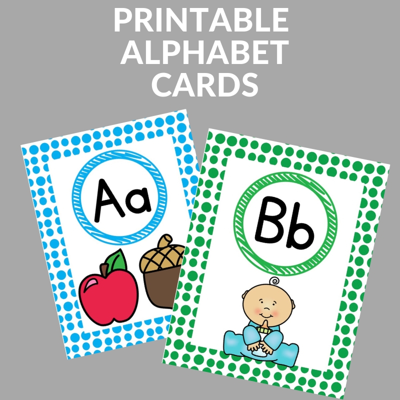 picture regarding Alphabet Cards Printable called Substantial and Free of charge Printable Alphabet Playing cards