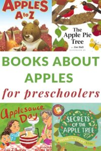 big list of apple books for preschoolers