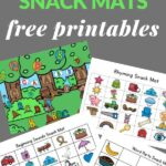 four snack mats for snack time with young children