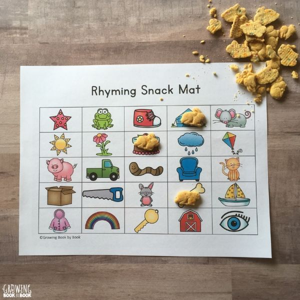 rhyming learning mat