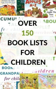 over 150 book lists of children's books on lots of topics