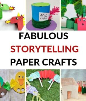 paper craft ideas for classic children's books