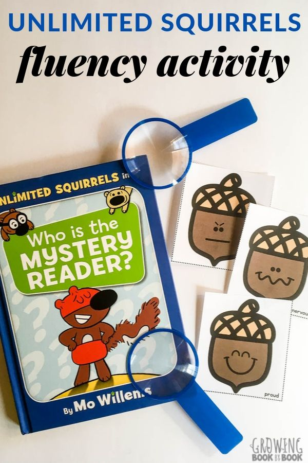 Unlimited Squirrels fluency activity for early literacy