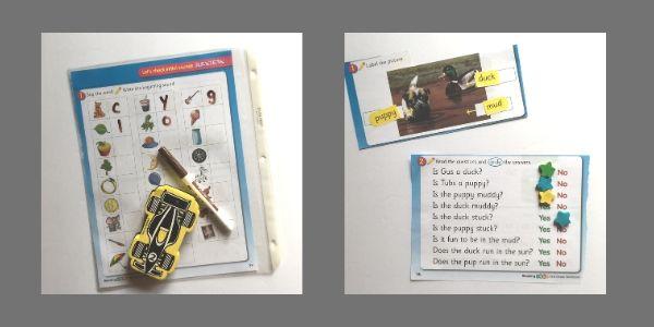 cutting up a workbook