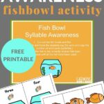 counting syllables activity with fish and fishbowl printables