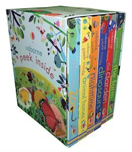 peek inside box set of lift the flap books