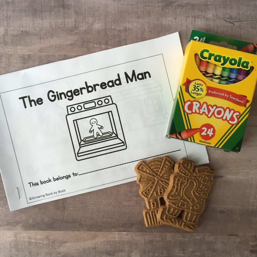 printable book, crayons, and cookies as a student gift