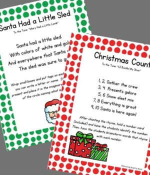 preschool songs for Christmas