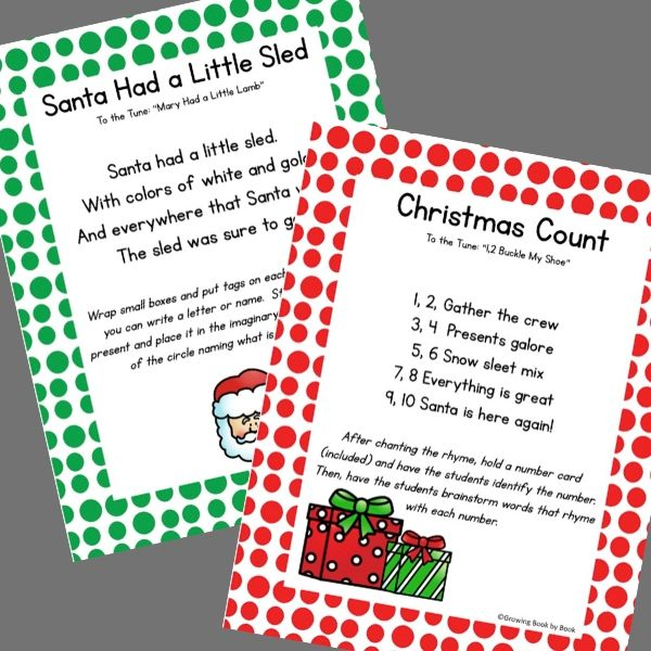 preschool songs for Christmas