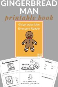 gingerbread man book printable
