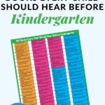 100 books to read before kindergarten