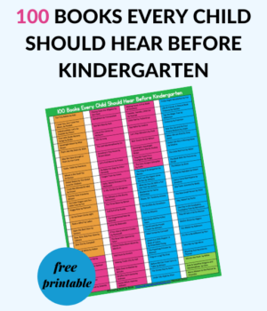 books to read with kids before kindergarten