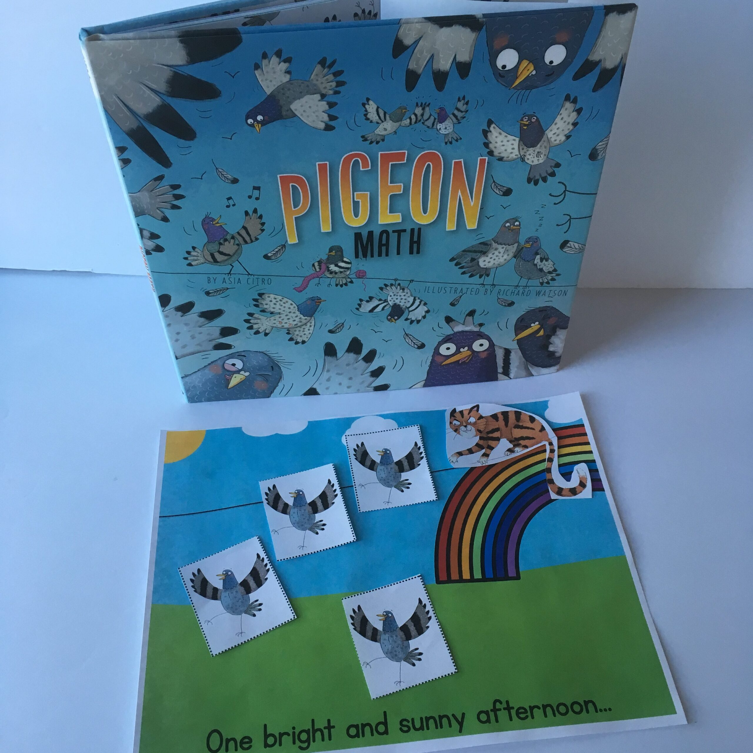 printable activities for Pigeon Math book
