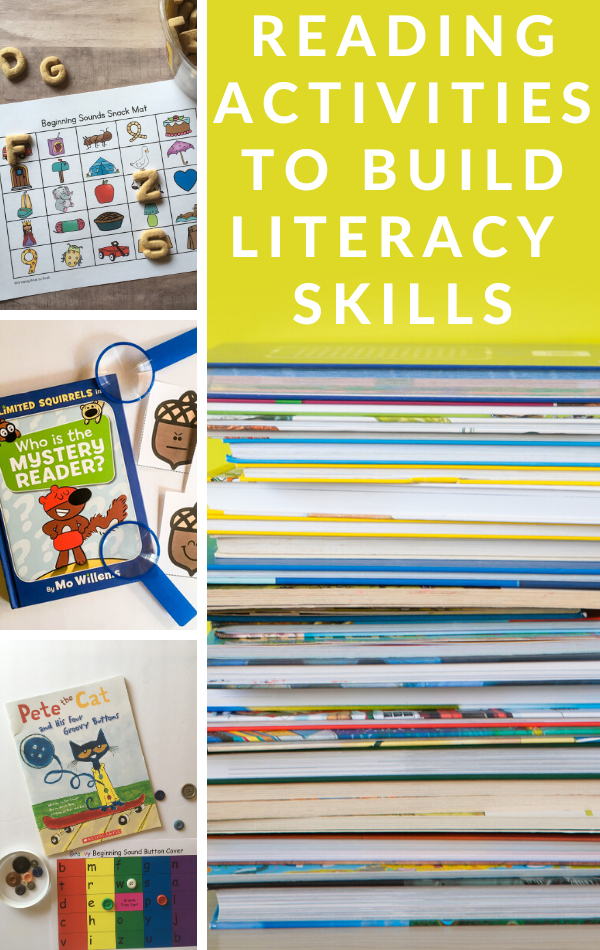 Lots of reading activities to build early literacy skills.