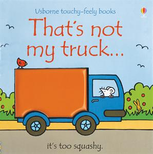 touch and feel truck book by Usborne