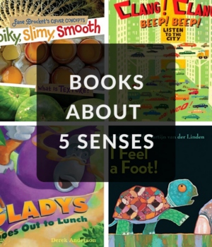 books about sight, sound, touch, smell, taste, and sound for kids