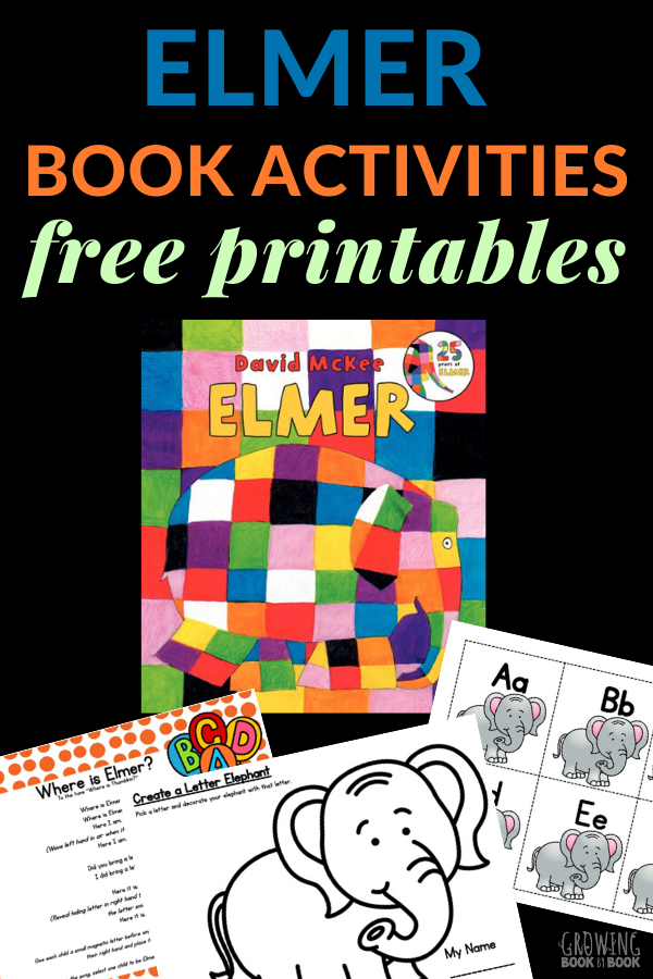 Elmer the elephant book activities