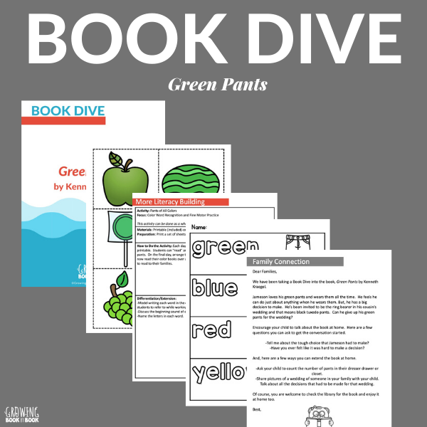 green pants book activities