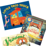 books for preschoolers about cars, trucks, boats, and other vehicles